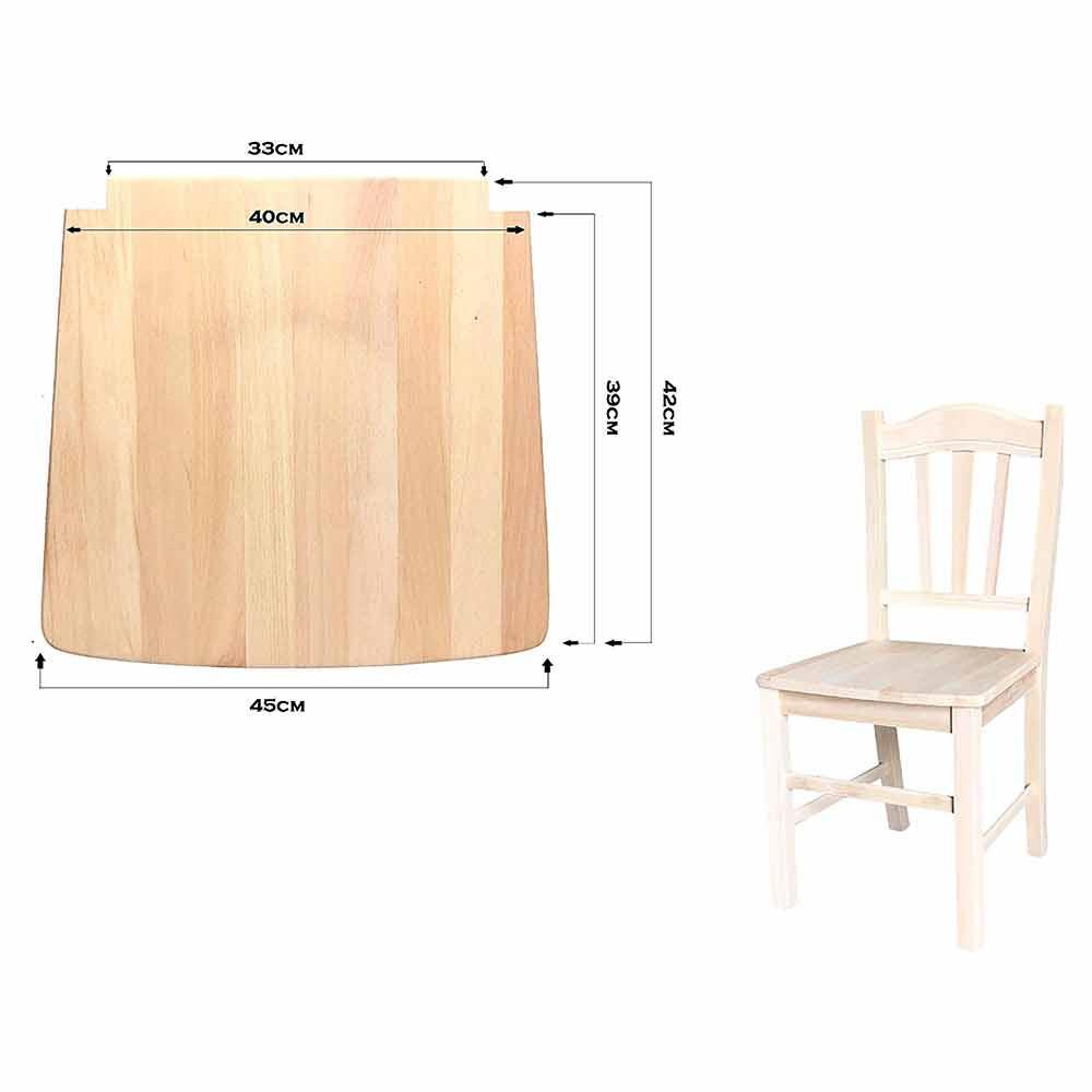 seduta fondo fondello ricambio sedia telaio massello legno ...