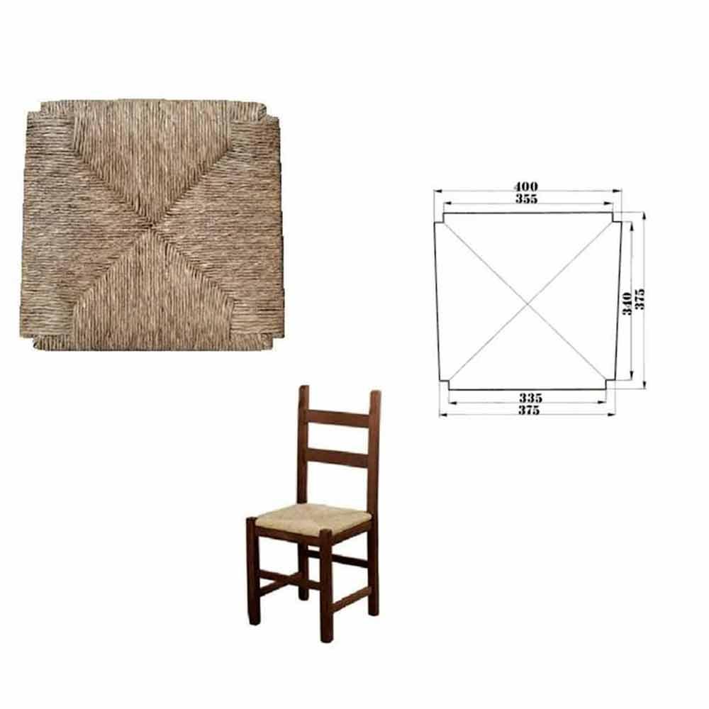 SF SAVINO FILIPPO 6 Pezzi Seduta Sedile Fondo Pannello Quadrato di Ricambio impagliato per Sedia Legno paesana in Paglia Struttura in Legno